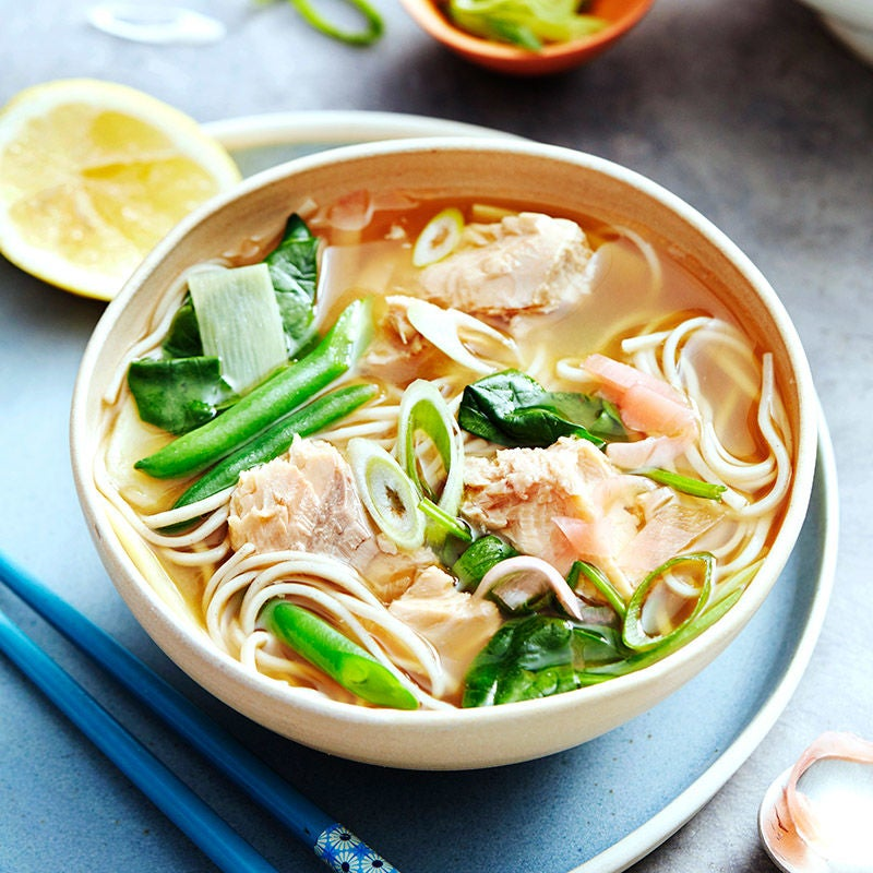 Photo of Japanese salmon and soba broth by WW