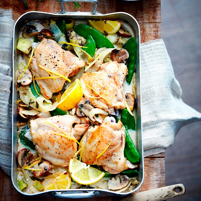Photo of Lemon tarragon baked chicken by WW
