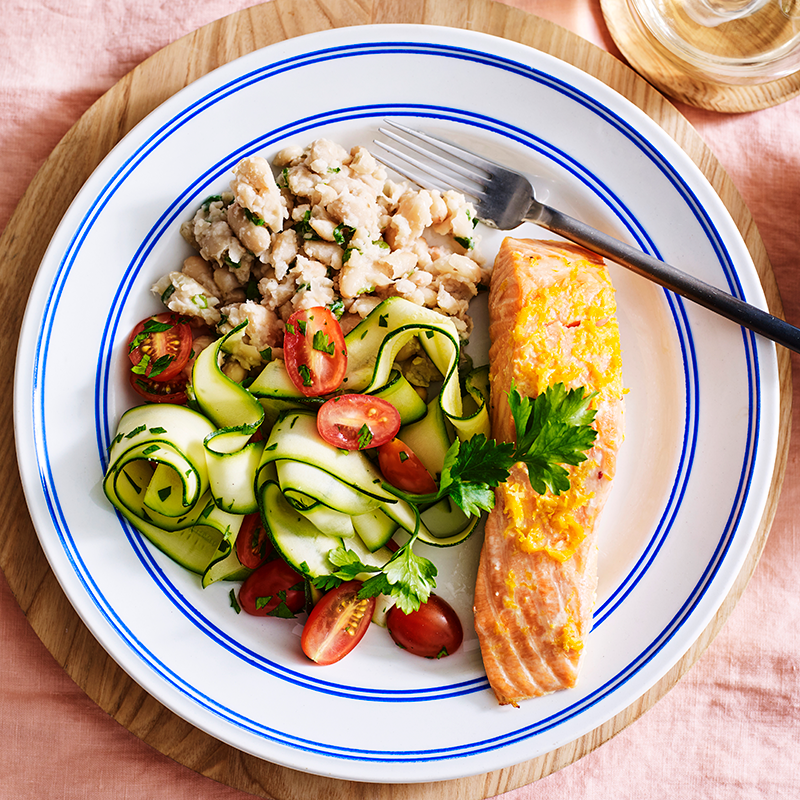 Photo of Baked citrus salmon with zucchini salad by WW
