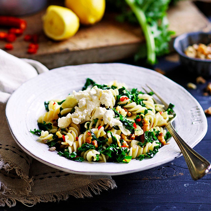 Photo of Kale, lemon, chilli and walnut pasta by WW