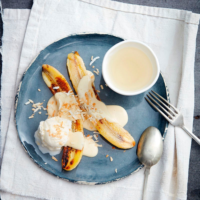 Photo of Pan-fried banana with coconut sauce by WW
