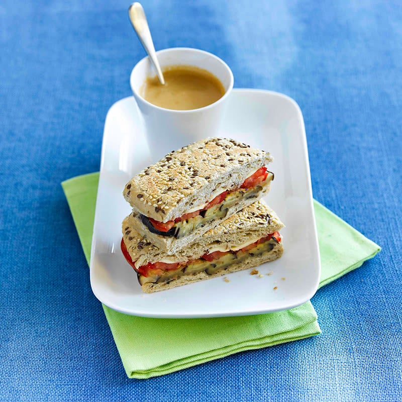 Photo of Grilled eggplant, olive and bocconcini toastie by WW