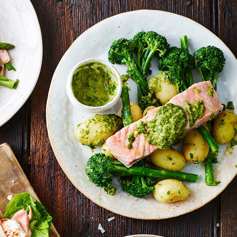 Photo of Salmon with salsa verde by WW