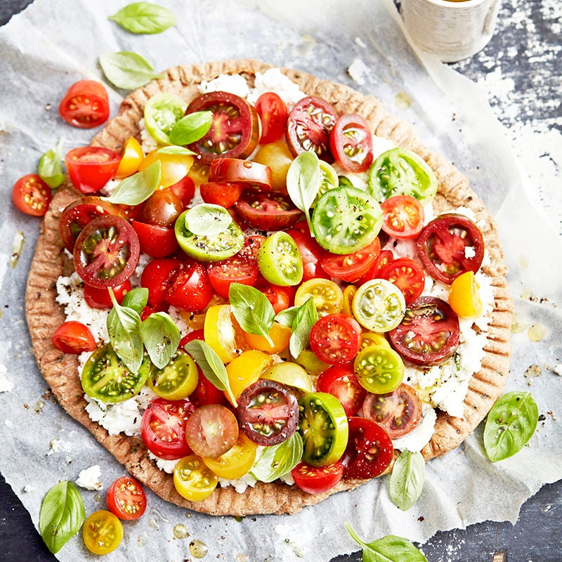 Photo of Tomato and goat's cheese spelt tart by WW