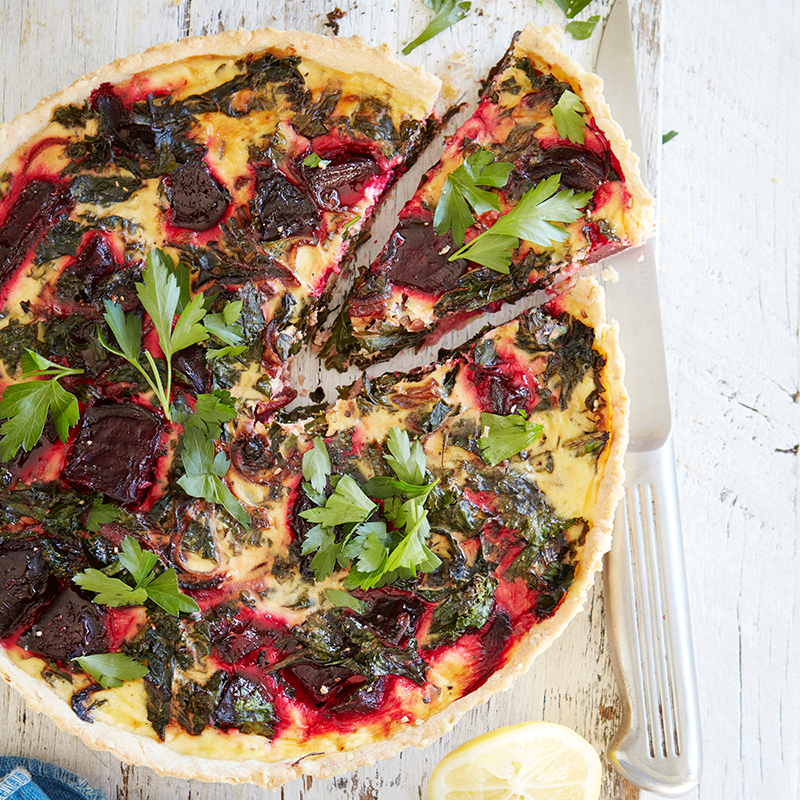Photo of Roast beet, kale and sesame seed tart by WW