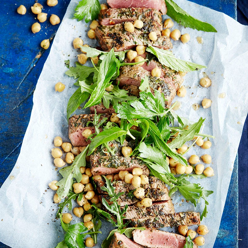 Photo of Garlic lemon lamb with chickpeas by WW