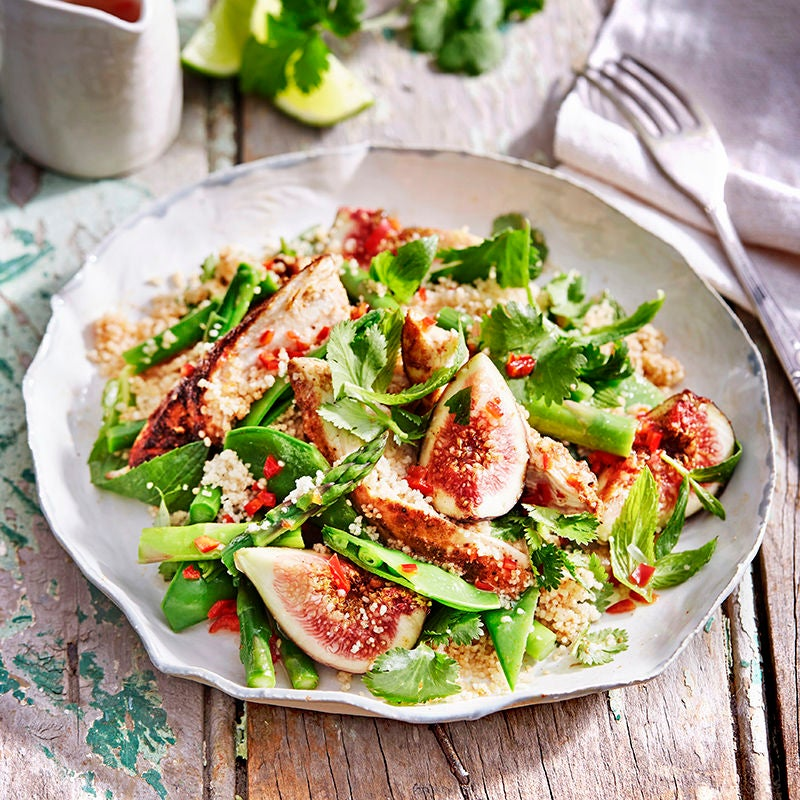 Photo of Spiced chicken, wholemeal couscous, fig and mint salad by WW