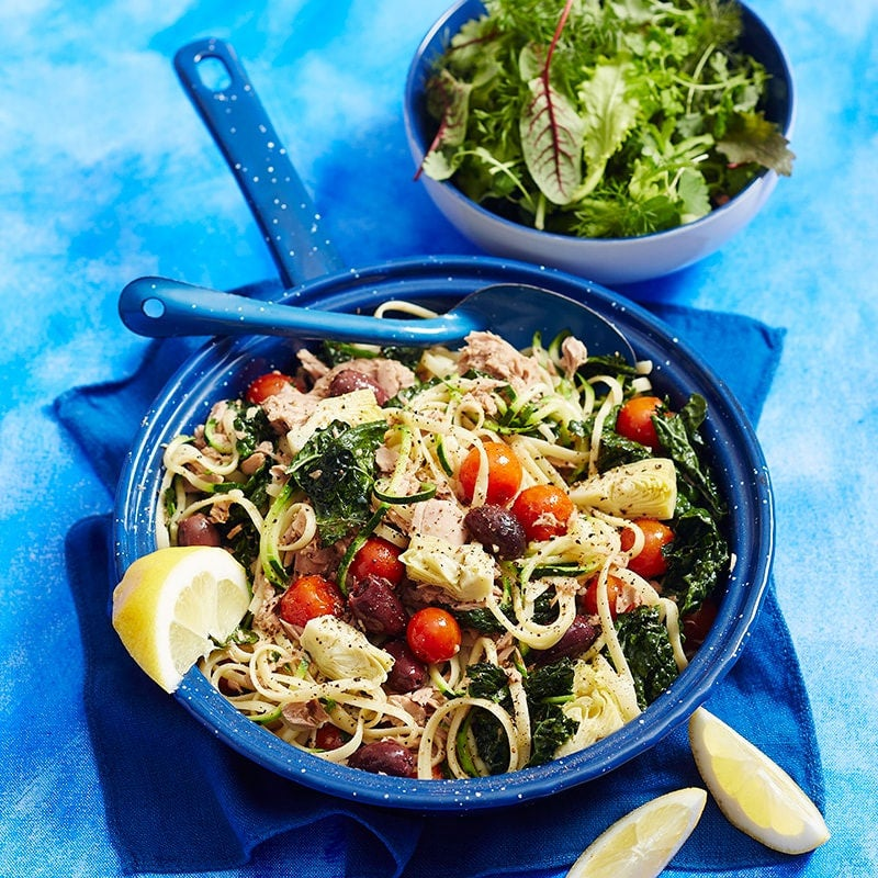 Photo of Linguine with tuna, tomatoes and kale by WW