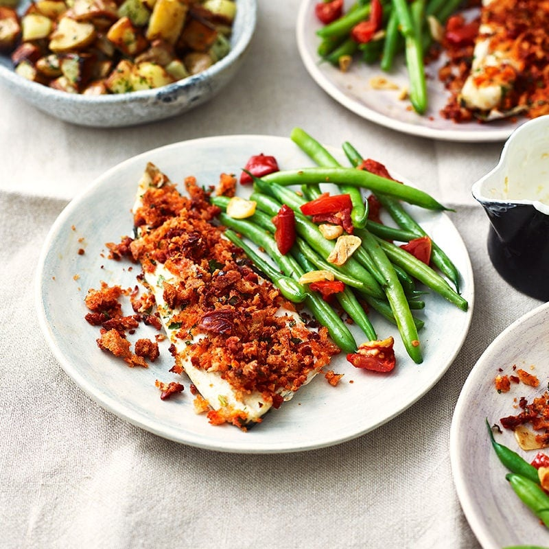 Photo of Baked fish with chorizo crumb by WW