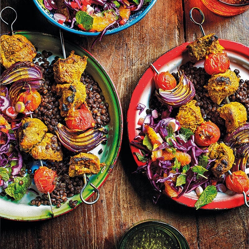 Photo of Lamb tikka kebabs with spicy coleslaw by WW