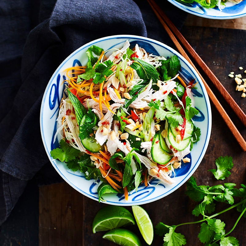 Photo of Vietnamese-style chicken and cabbage salad by WW