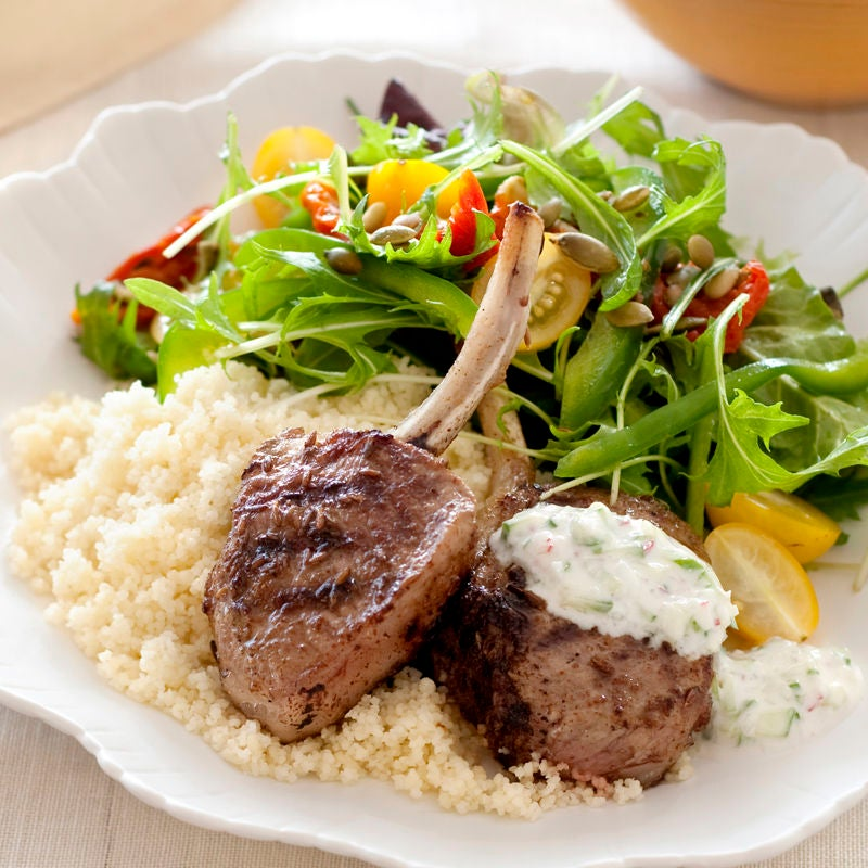 Photo of Cumin-spiced lamb cutlets with radish and cucumber raita by WW