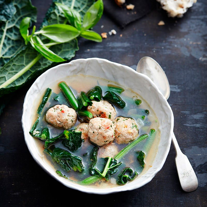 Photo of Pork meatball and kale soup by WW