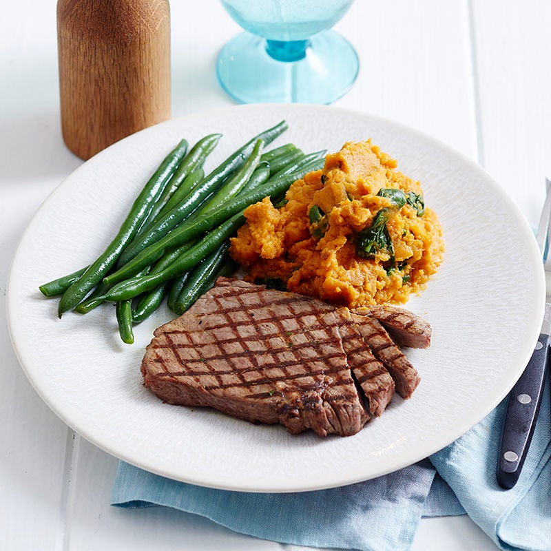 Photo of Rump steak and sweet potato mash by WW