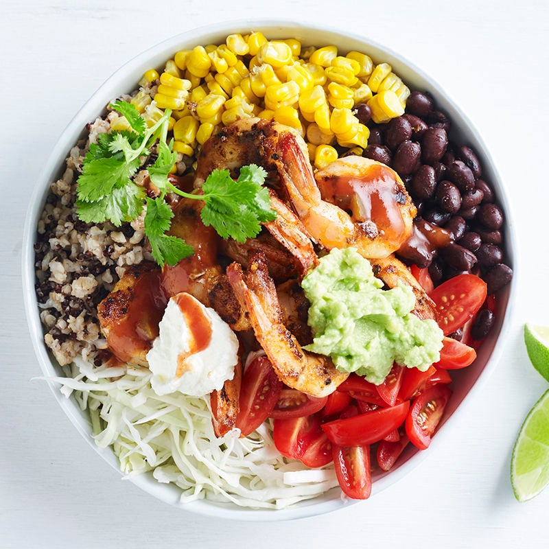 Photo of Mexican prawn, quinoa and rice bowl by WW