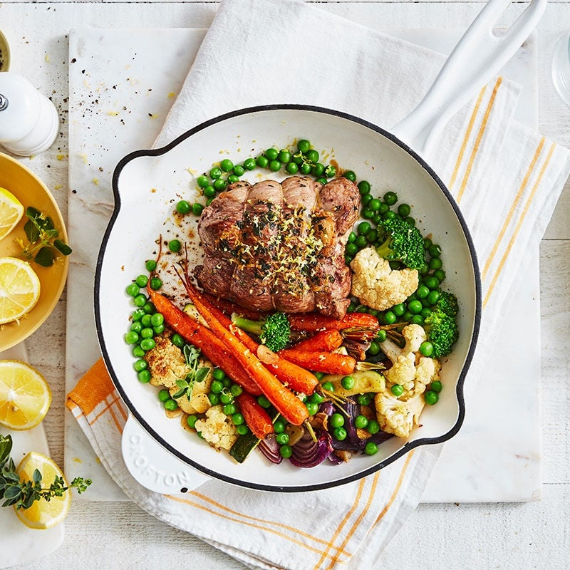 Photo of Lemon and oregano lamb with roasted vegetables by WW