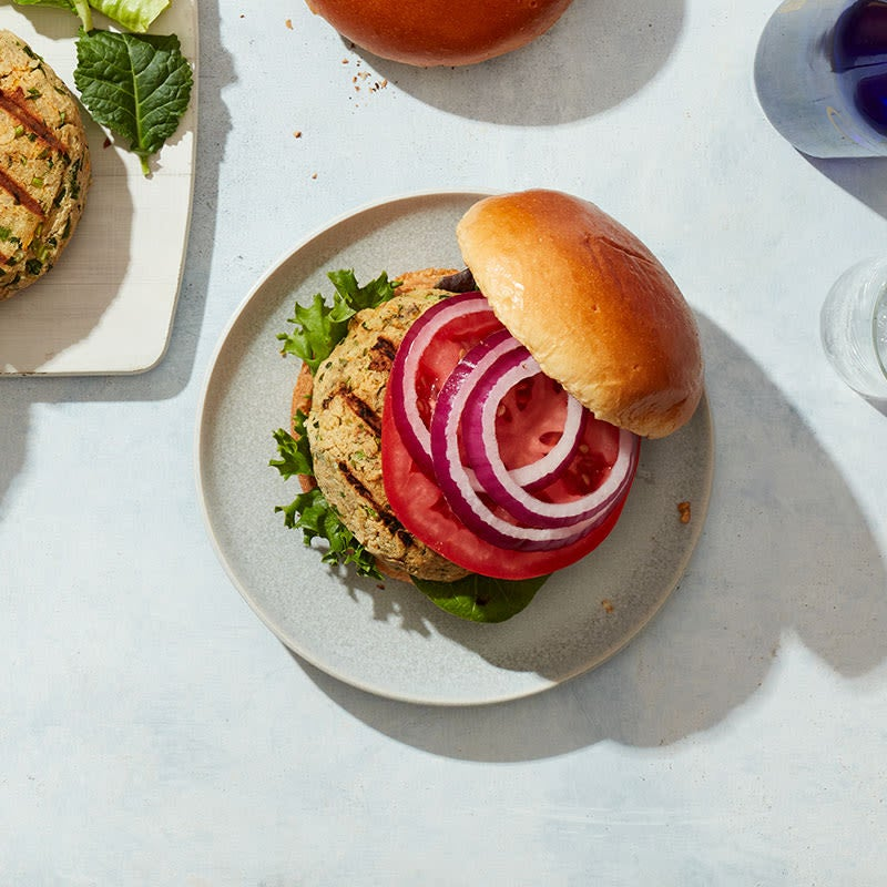 Photo of Chickpea and brown rice burgers by WW