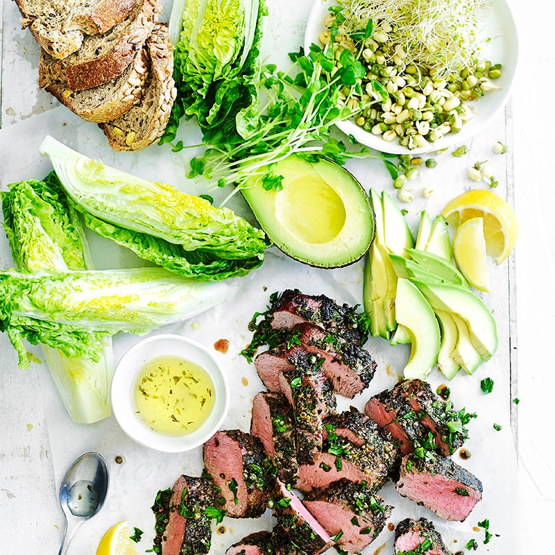 Photo of Barbecued peppered lamb with avocado and sprout salad by WW