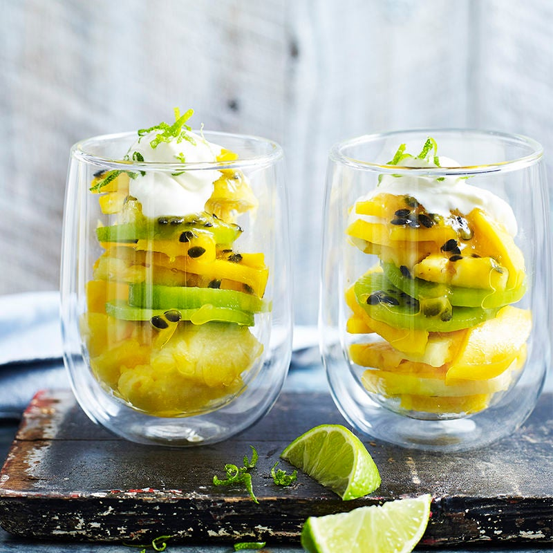 Photo of Tropical fruit with passionfruit sauce by WW