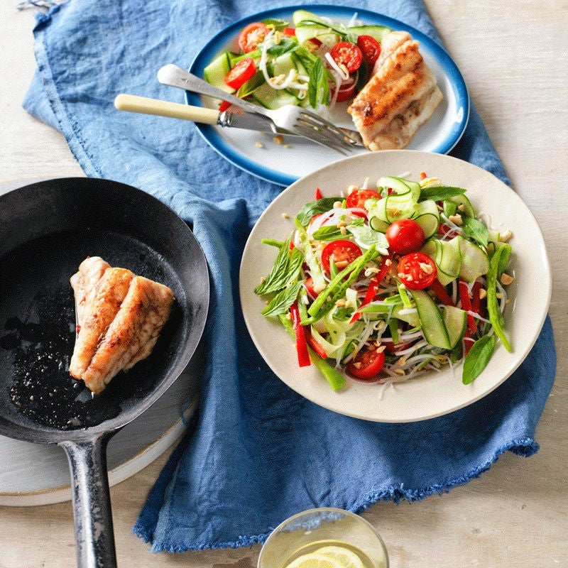 Photo of Pan-fried snapper fillets with noodle salad by WW