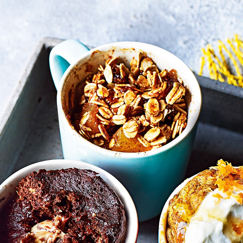 Photo of Date spiced apple crumble mug muffin by WW