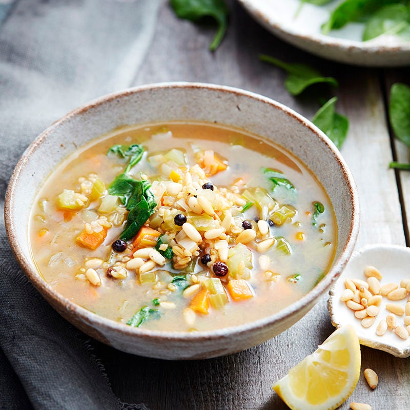 Photo of Middle Eastern freekeh soup by WW