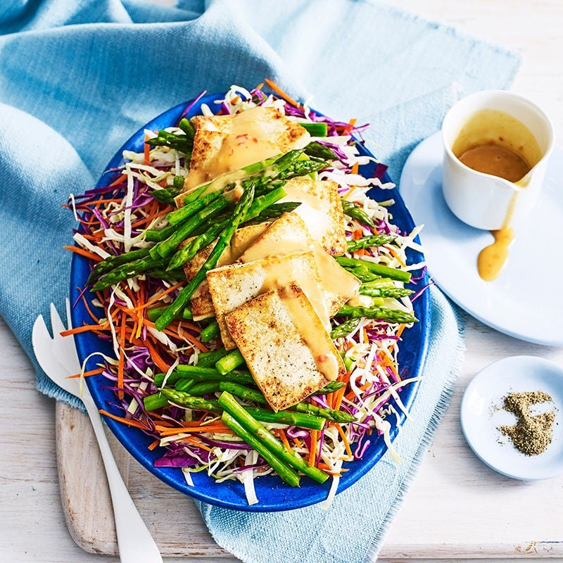 Photo of Satay tofu with warm cabbage salad by WW