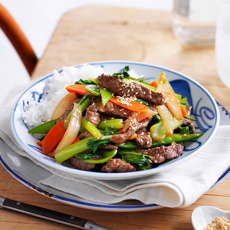 Photo of Sesame beef with snow peas by WW