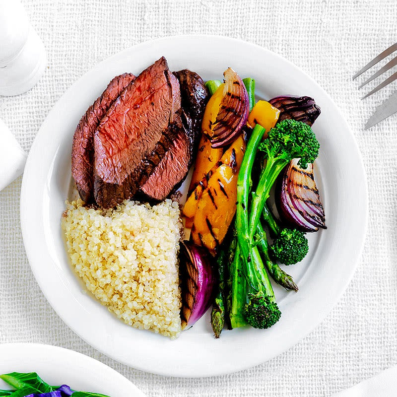 Photo of Balsamic kangaroo steak with asparagus and quinoa by WW