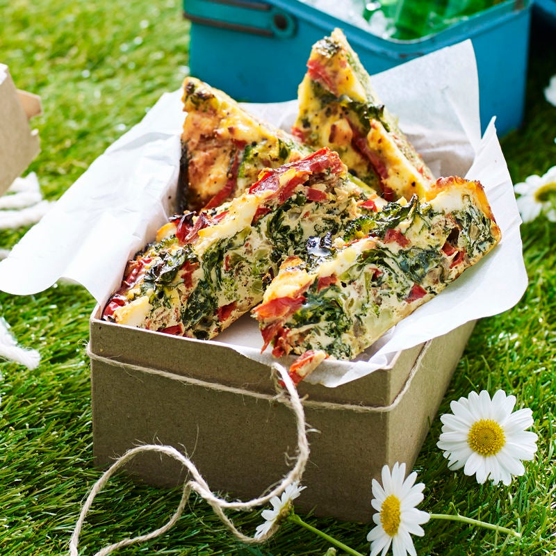 Photo of Kale, pancetta, broccoli and goat's cheese frittata by WW