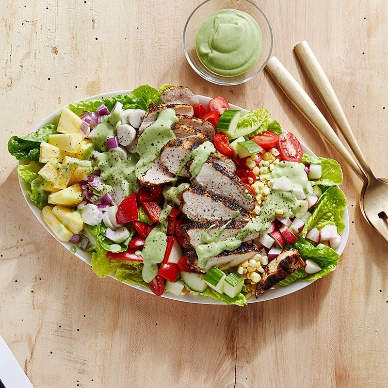 Photo of Chicken cobb salad with creamy avocado dressing by WW