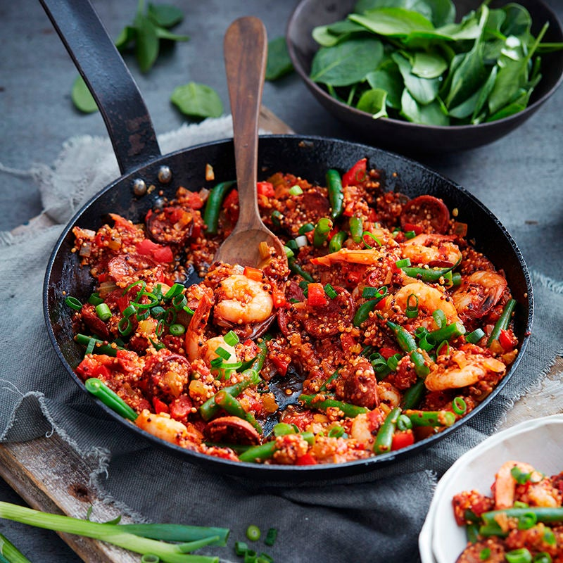 Photo of Quinoa, chorizo and prawn jambalaya by WW