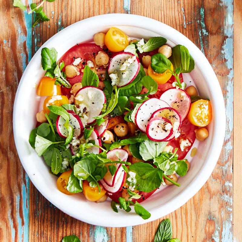 Tomato and chickpea salad | Healthy Recipe | Weight ...