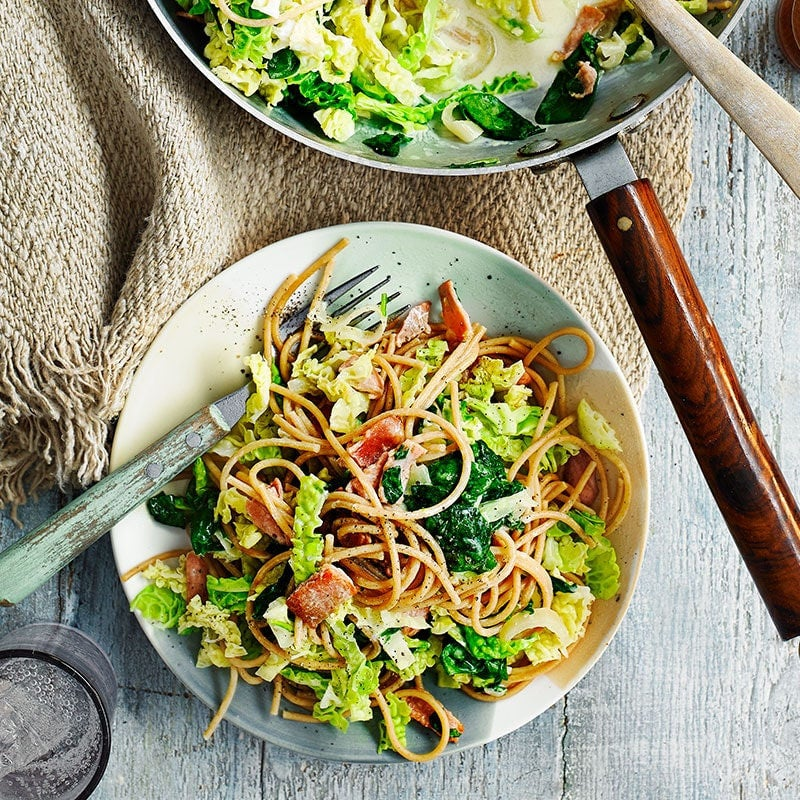 Photo of Bacon and cabbage pasta by WW