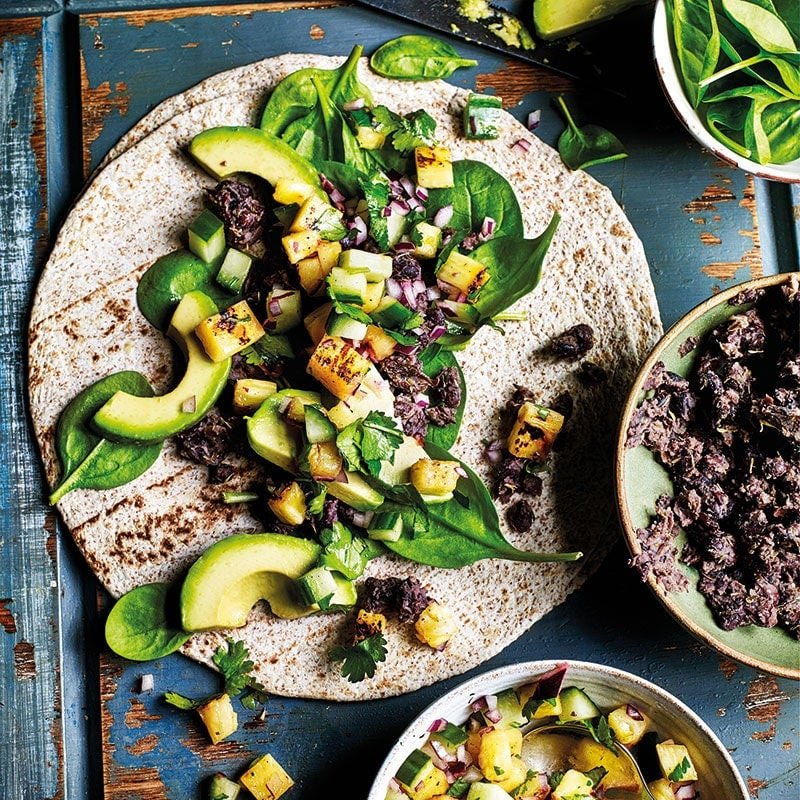 Photo of Black bean and avocado wraps by WW