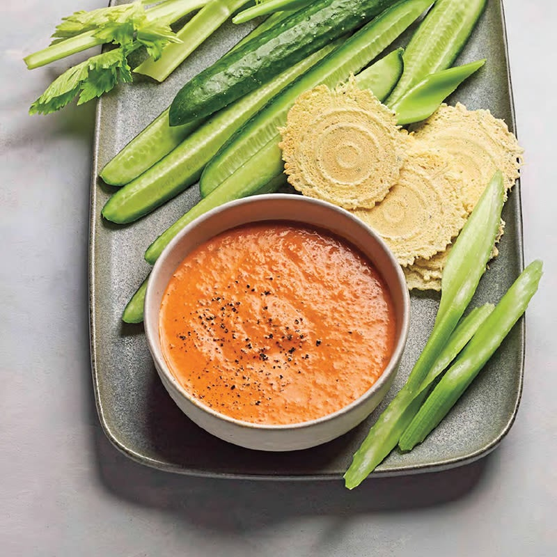 Photo of Roasted capsicum and harissa dip by WW