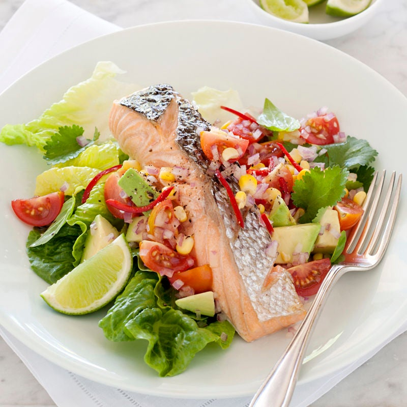 Photo of Grilled salmon with corn salad by WW