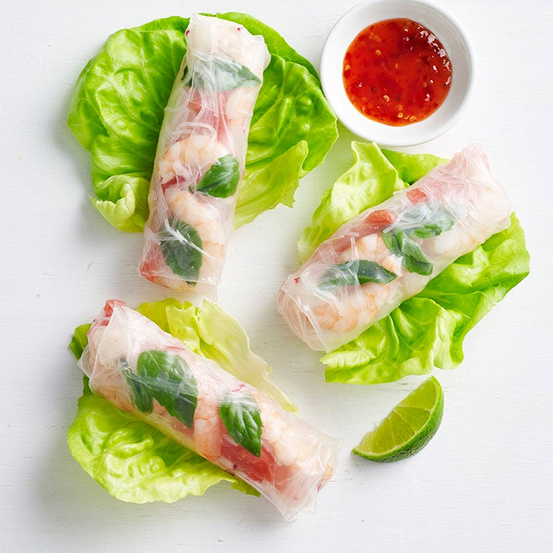 Photo of Prawn and watermelon rice paper rolls by WW