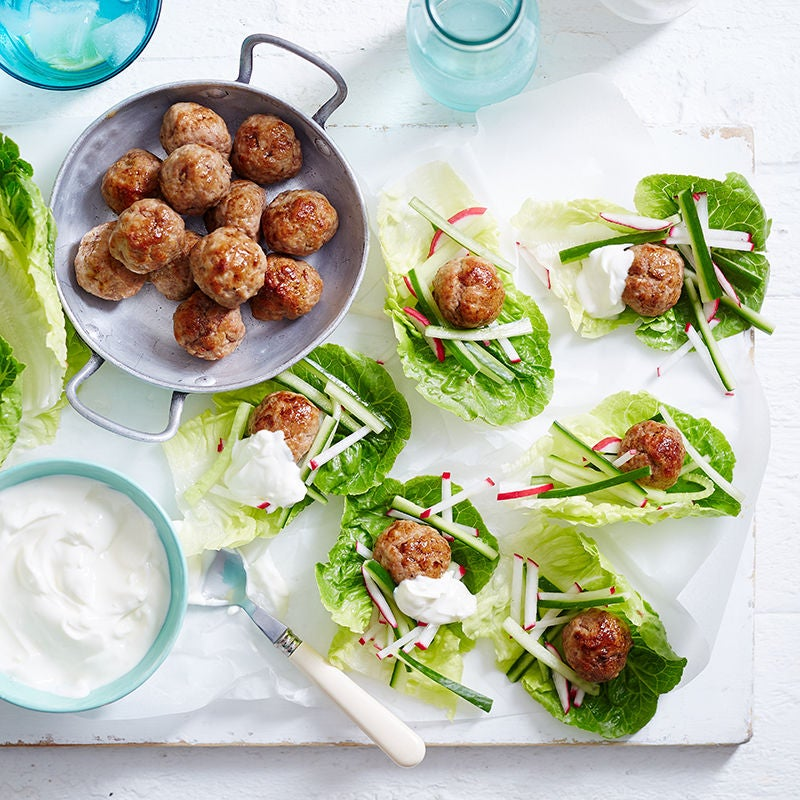 Photo of Lettuce cups with Moroccan turkey meatballs by WW
