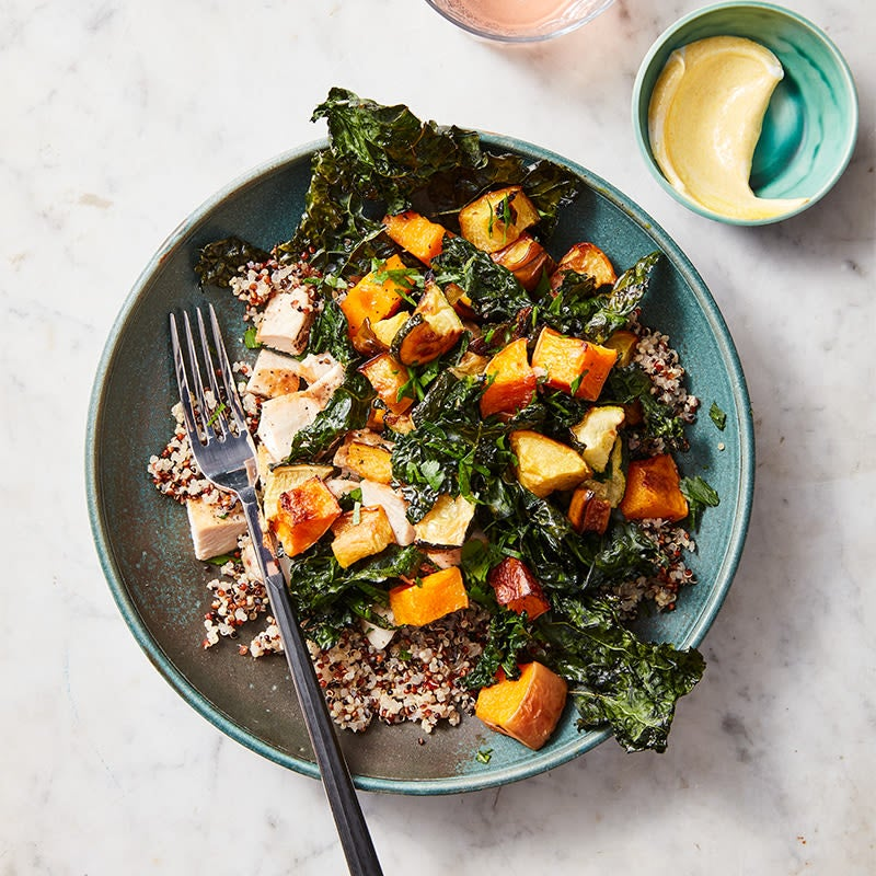 Photo of Roasted veg and chicken grain bowl by WW