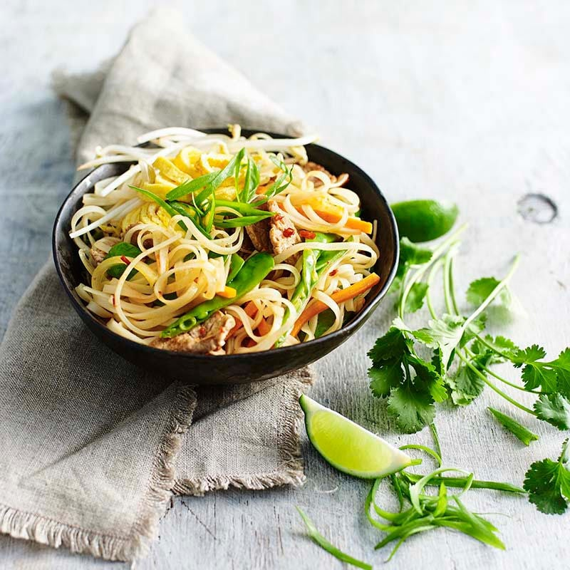 Photo of Pork and vegetable pad Thai by WW