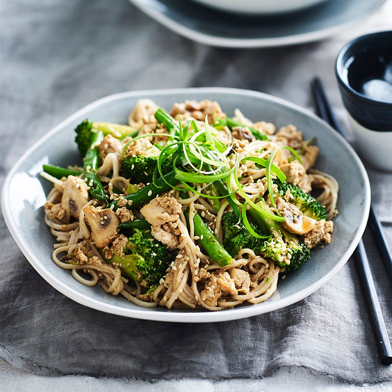 Photo of Tofu 'mince' stir-fry with soba noodles by WW