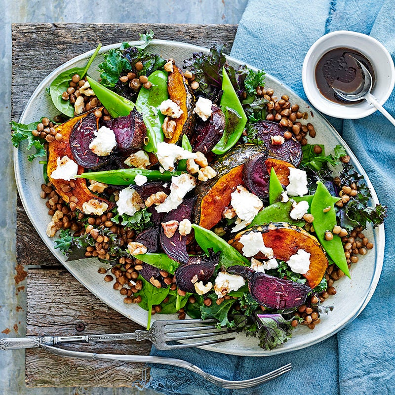 Photo of Roast beetroot, pumpkin and lentil salad by WW