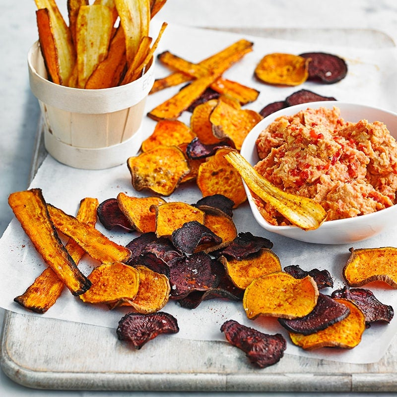 Photo of Root veg chips with hummus by WW