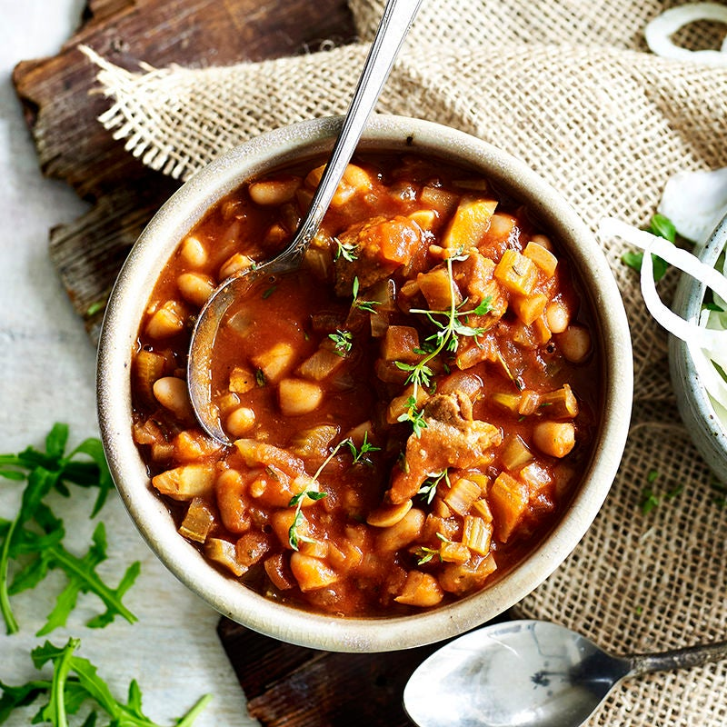 Photo of Slow cooked pork and beans by WW