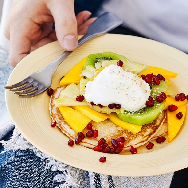 Photo of Coconut pancakes with tropical fruit by WW