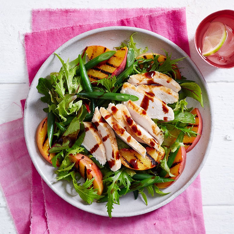 Photo of Grilled chicken and peach salad by WW