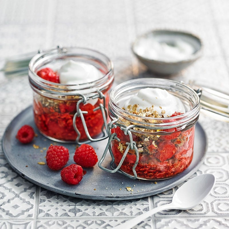 Photo of Granola and yoghurt pots with maple raspberries by WW