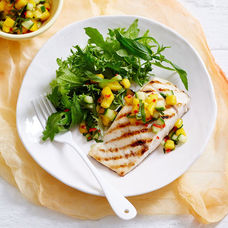 Photo of Grilled fish with mango salsa by WW