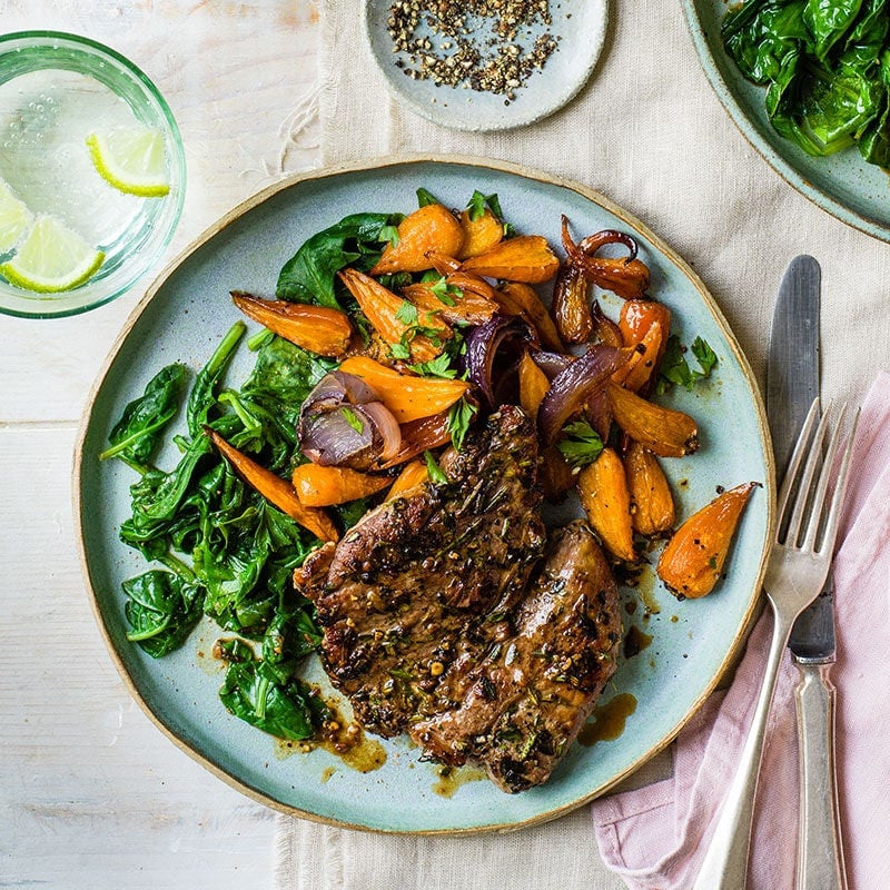 Photo of Lamb steaks with sticky carrots by WW